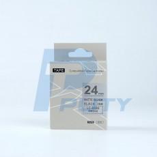 Nhãn in TEPRA SM24XC ( chữ đen trên nền bạc, 24mm )
