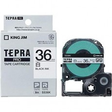 Nhãn in Tepra Pro SS36K ( Chữ đen trên nền trắng - Khổ 36mm - Dài 8 met )