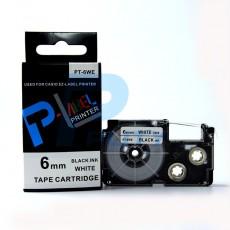 Nhãn in CASIO PT-6WE ( chữ đen nền trắng 6mm )