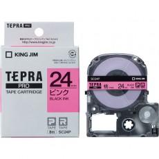 Nhãn in Tepra Pro SC24P ( Chữ đen trên nền hồng - Khổ 24mm - Dài 8 met )