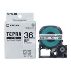 Nhãn in Tepra Pro ST36K ( Chữ đen trên nền trong - Khổ 36mm - Dài 8 met )