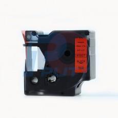 Nhãn in Dymo 19mm DM-45807 ( chữ đen trên nền đỏ )