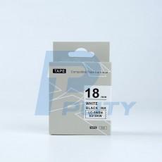 Nhãn in TEPRA SS18KW ( Tương Đương SS18K ) - Nhãn chữ đen trên nền trắng, 18mm