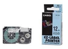 Nhãn in CASIO XR-12X1 ( Chữ đen trên nền trong - 12mm - dài 8 met )
