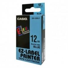 Nhãn in CASIO XR-12BU1 ( Chữ đen trên nền xanh dương - 12mm - dài 8 met )