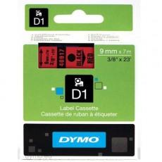 Nhãn in Dymo (D1) S0720720 nhựa Polyester 9mm x 7m – (Đen/Đỏ)