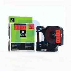 Nhãn in Dymo 12mm DM-45017 ( chữ đen trên nền đỏ )