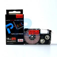 Nhãn in PT-18RD ( chữ đen nền đỏ 18mm )