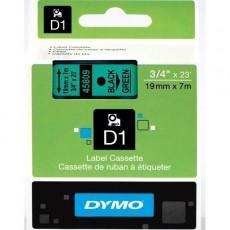 Nhãn in đa năng Dymo (D1) S0720890 nhựa Polyester 19mm x 7m – (Đen/Xanh lá)