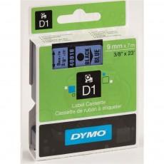 Nhãn in Dymo (D1) S0720710 nhựa Polyester 9mm x 7m – (Đen/Xanh dương)