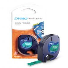 Nhãn in Dymo S0721640 (LT) nhựa Polyester ( Đen/Xanh lá- 12mm x 4m )