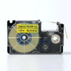 Nhãn in  CASIO PT-24YW ( chữ đen nền vàng 24mm )