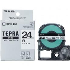 Nhãn in Tepra Pro SS24K ( Chữ đen trên nền trắng - Khổ 24mm - Dài 8 met )