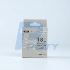 Nhãn in TEPRA SM18XC ( chữ đen trên nền bạc, 18mm )