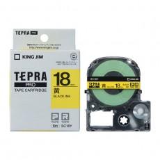 Nhãn in Tepra Pro SC18Y ( Chữ đen trên nền vàng - Khổ 18mm - Dài 8 met )