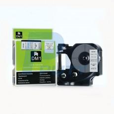 Nhãn in Dymo 12mm DM-45013 ( chữ đen trên nền trắng )