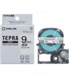 Nhãn in Tepra Pro ST9K ( Chữ đen trên nền trong - Khổ 9mm - Dài 8 met )