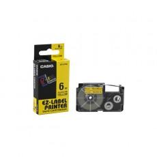 Nhãn in CASIO XR-6YW1 ( Chữ đen trên nền vàng - 6mm - dài 8 met )