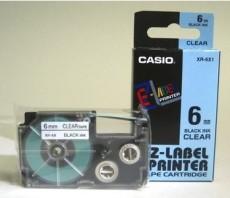 Nhãn in CASIO XR-6X1 ( Chữ đen trên nền trong - 6mm - dài 8 met )