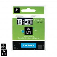 Nhãn in Dymo (D1) S0720770 nhựa Polyester 6mm x 7m – (Đen/Trong)