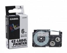 Nhãn in CASIO XR-6WE1 ( Chữ đen trên nền trắng - 6mm - dài 8 met )
