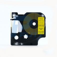 Nhãn in Dymo 12mm DM-45018 ( chữ đen trên nền vàng )
