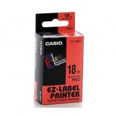 Nhãn in CASIO XR-18RD1 ( Chữ đen trên nền đỏ - 18mm - dài 8 met )