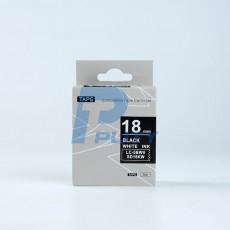 Nhãn in TEPRA SD18KW ( chữ trắng trên nền đen, 18mm )