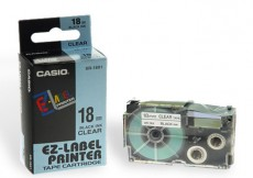 Nhãn in CASIO XR-18X1 ( Chữ đen trên nền trong - 18mm - dài 8 met )