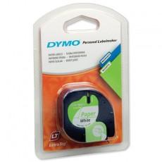 Nhãn in Dymo S0721510 (LT) giấy (Đen/Trắng - 12mm x 4m)