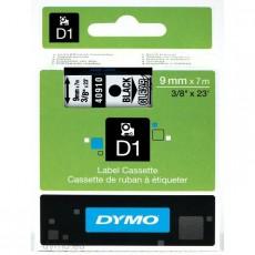 Nhãn in Dymo (D1) S0720670 nhựa Polyester 9mm x 7m – (Đen/Trong)