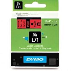 Nhãn in Dymo (D1) S0720870 nhựa Polyester 19mm x 7m – (Đen/Đỏ)