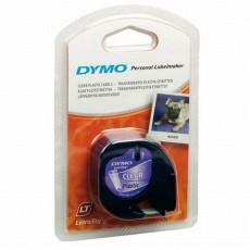 Nhãn in Dymo S0721530 (LT) nhựa Polyester ( Đen/Trong - 12mm x 4m )