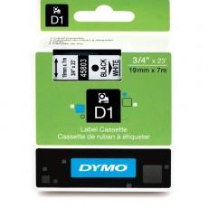 Nhãn in Dymo (D1) S0720830 nhựa Polyester 19mm x 7m – (Đen/Trắng)