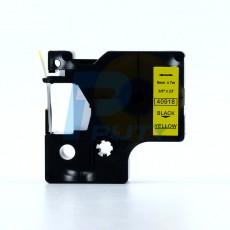 Nhãn in Dymo 9mm DM-40918 ( chữ đen trên nền vàng )