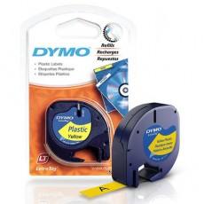 Nhãn in Dymo S0721620 (LT) nhựa Polyester ( Đen/Vàng - 12mm x 4m )