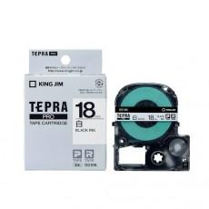 Nhãn in Tepra Pro SS18K ( Chữ đen trên nền trắng - Khổ 18mm - Dài 8 met )