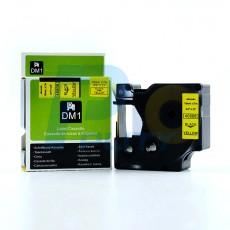 Nhãn in Dymo 19mm DM-45808 ( chữ đen trên nền vàng )