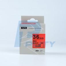 Nhãn in SC36RW ( chữ đen trên nền đỏ, 36mm )