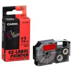 Nhãn in CASIO XR-12RD1 ( Chữ đen trên nền đỏ- 12mm - dài 8 met )