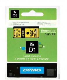 Nhãn in Dymo (D1) S0720880 nhựa Polyester 19mm x 7m – (Đen/Vàng)