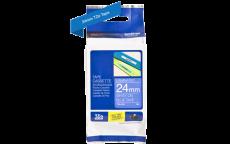 Nhãn in TZe-555 ( Nhãn in 24mm - chữ trắng trên nền xanh - dài 8 met )