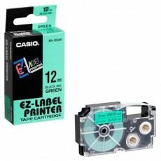 Nhãn in CASIO XR-12GN1 ( Chữ đen trên nền xanh lá - 12mm - dài 8 met )