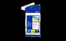 Nhãn in TZe-232 ( Nhãn in 12mm - chữ đỏ trên nền trắng - dài 8 met )