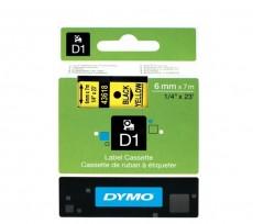 Nhãn in Dymo (D1) S0720790 nhựa Polyester 6mm x 7m – (Đen/Vàng)