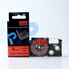 Nhãn in CASIO PT-6RD ( chữ đen nền đỏ 6mm )