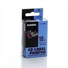 Nhãn in CASIO XR-18BU1 ( Chữ đen trên nền xanh dương - 18mm - dài 8 met )