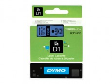 Nhãn in Dymo (D1) S0720860 nhựa Polyester 19mm x 7m – (Đen/Xanh dương)