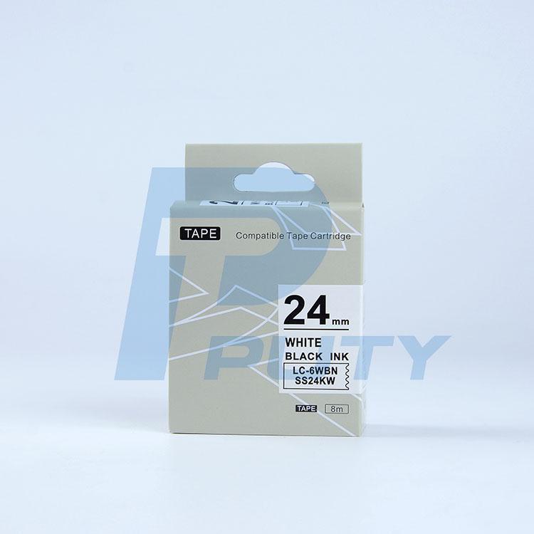 Nhãn in TEPRA SS24KW ( Tương Đương SS24K ) - Nhãn chữ đen trên nền trắng, 24mm