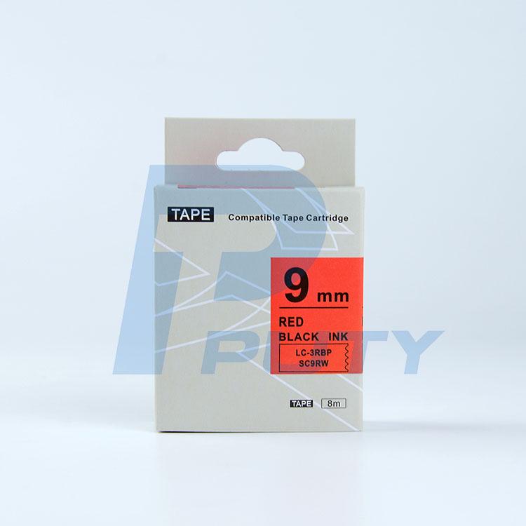 Nhãn in TEPRA SC9RW ( Tương Đương SC9R ) - Nhãn chữ đen trên nền đỏ 9mm )